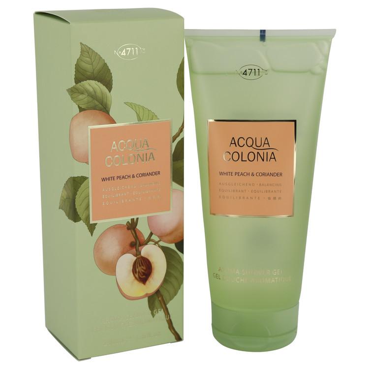 4711 Acqua Colonia White Peach & Coriander by Maurer & Wirtz - Shower Gel 200 ml f. dömur