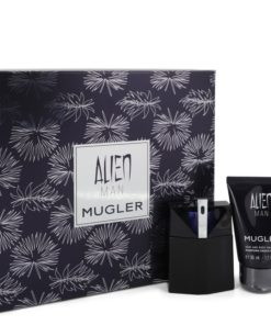 Alien Man by Thierry Mugler - Gjafasett - 1.7 oz Eau De Toilette Spray Refillable 1.7 oz Hair & Body Shampoo f. herra