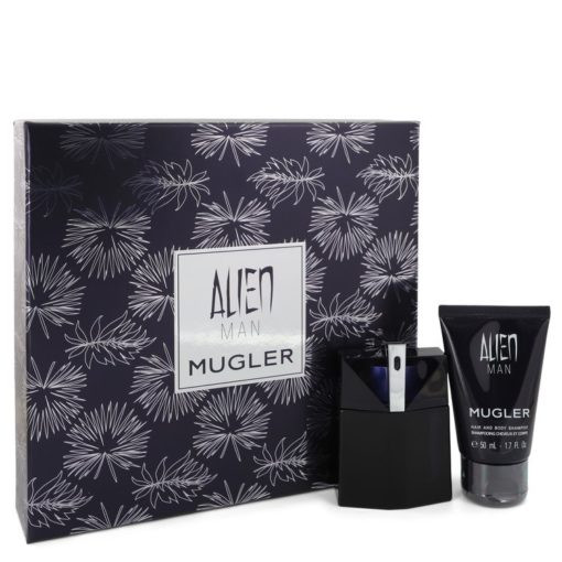 Alien Man by Thierry Mugler - Gjafasett - 1.7 oz Eau De Toilette Spray Refillable 1.7 oz Hair & Body Shampoo f. herra