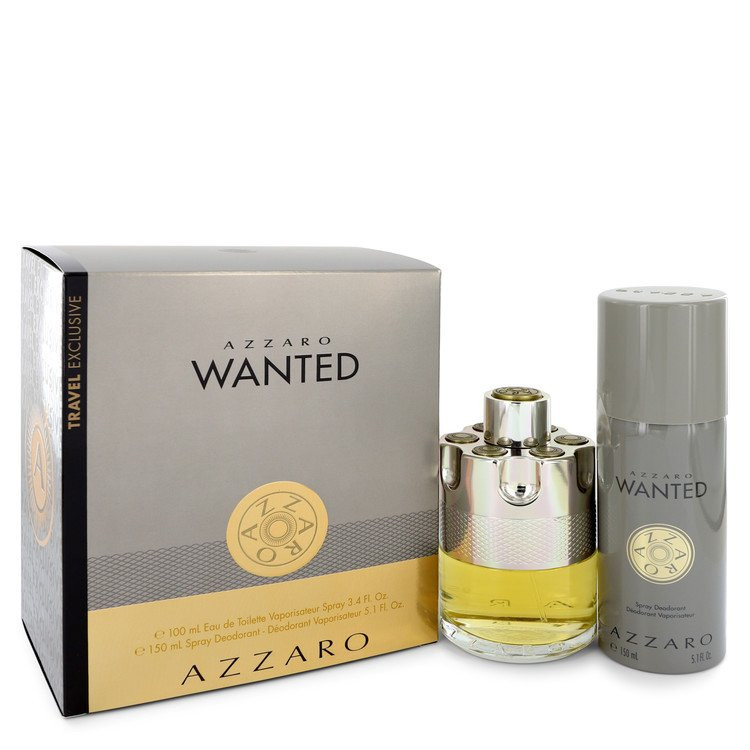 Azzaro Wanted by Azzaro - Gjafasett - 3.4 oz Eau De Parfum Spray + 5.1 oz Deodarant Spray f. herra