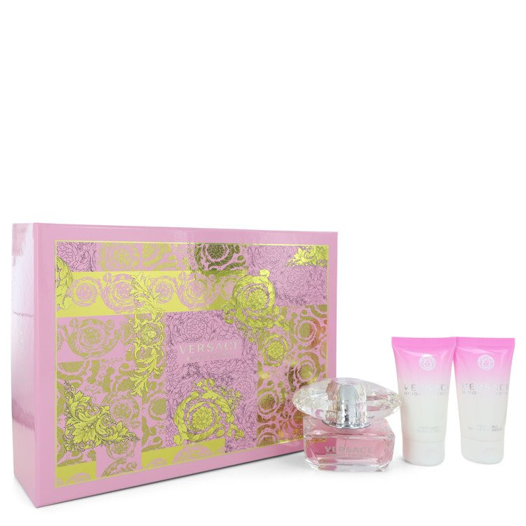 Bright Crystal by Versace - Gjafasett - 1.7 oz Eau De Toilette Spray + 1.7 oz Body Lotion + 1.7 oz Shower Gel f. dömur