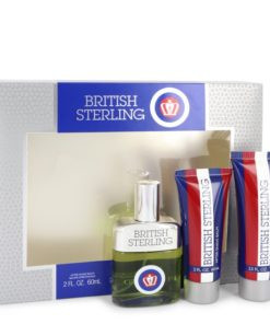 BRITISH STERLING by Dana - Gjafasett - 2.5 oz Cologne Spray + 2.5 oz Body Wash + 2 oz After Shave Balm f. herra