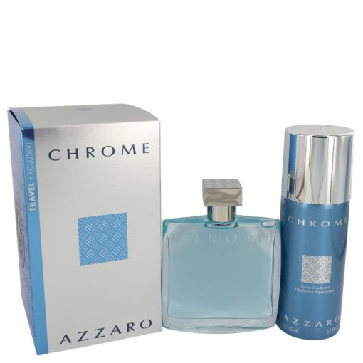 Chrome by Azzaro - Gjafasett - 3.4 oz Eau De Toilette Spray + 5 oz Deodorant Spray f. herra
