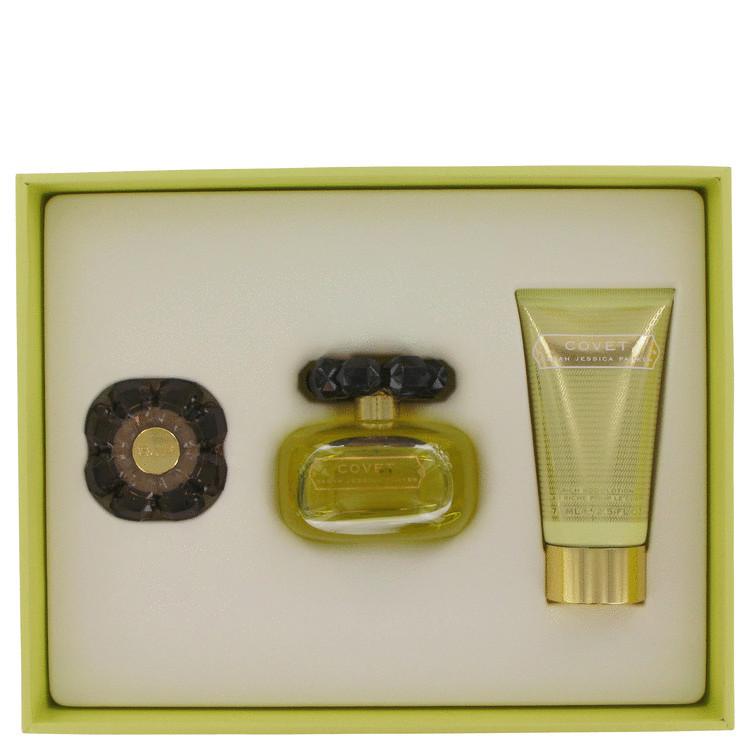 Covet by Sarah Jessica Parker - Gjafasett - 3.4 oz Eau De Parfum Spray + 2.5 oz Body Loiton + Perfume Compact f. dömur