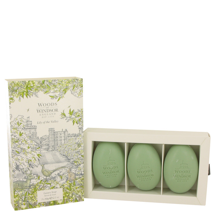 Lily of the Valley (Woods of Windsor) by Woods of Windsor - Three 2.1 oz Luxury Soaps 62 ml f. dömur