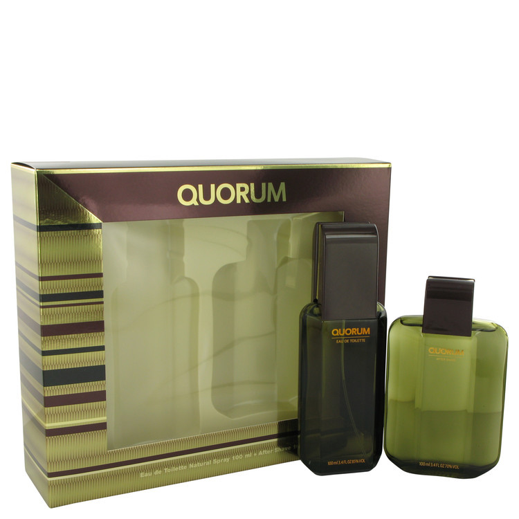 QUORUM by Antonio Puig - Gjafasett - 3.3 oz Eau De Toilette Spray + 3.3 oz After Shave f. herra