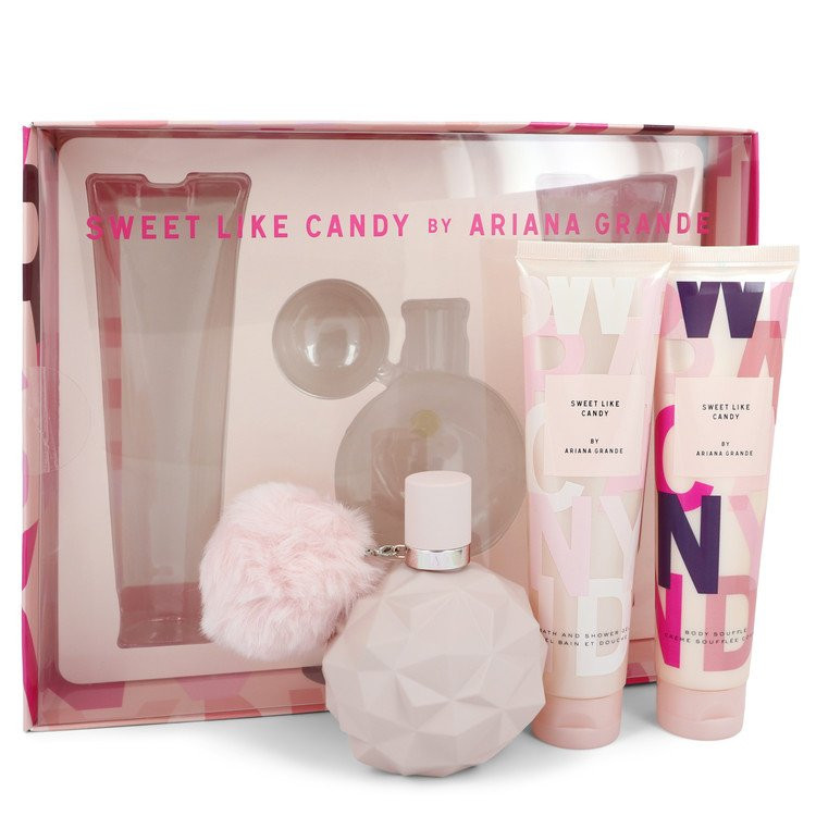 Sweet Like Candy by Ariana Grande - Gjafasett - 3.4 oz Eau De Parfum Spray + 3.4 oz Body Souffle + 3.4 oz Bath & Shower Gel f. dömur