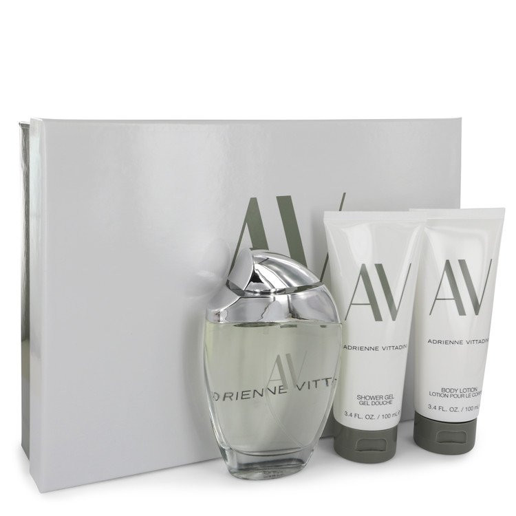 AV by Adrienne Vittadini - Gjafasett - 3 oz Eau De Parfum Spray + 3.3 Body Lotion + 3.3 oz Shower Gel f. dömur