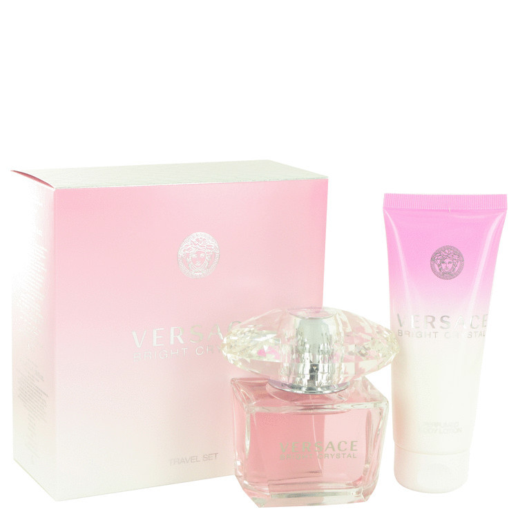 Bright Crystal by Versace - Gjafasett - 3 oz Eau De Toilette Spray + 3.4 oz Body Lotion f. dömur