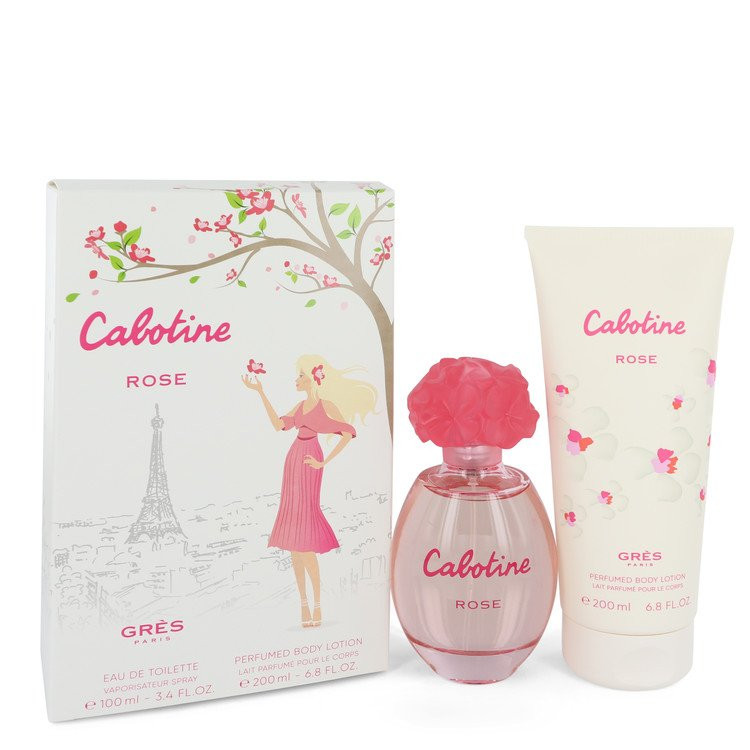 Cabotine Rose by Parfums Gres - Gjafasett - 3.4 oz Eau De Toilette Spray + 6.7 oz Body Lotion f. dömur