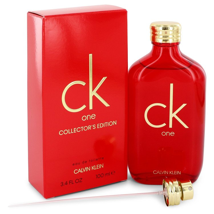 CK ONE by Calvin Klein - Eau De Toilette Spray (Unisex Red Collector's Edition) 100 ml f. herra