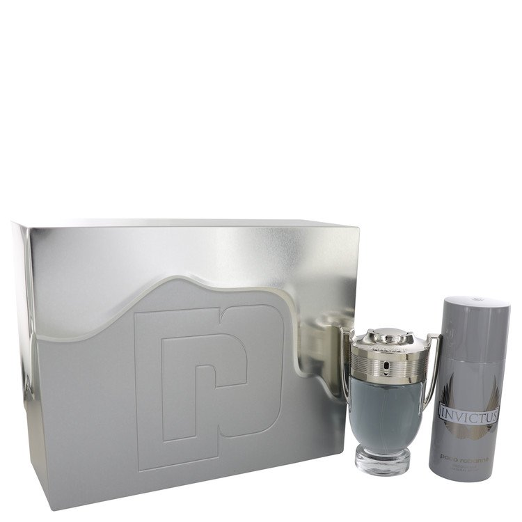 Invictus by Paco Rabanne - Gjafasett - 3.4 oz Eau De Toilette Spray + 5.1 oz Deodorant Spray f. herra
